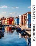 Burano Island In Venice. Italy...