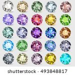 illustration set of precious... | Shutterstock .eps vector #493848817