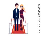 two rich and beautiful... | Shutterstock .eps vector #493856194