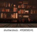 Blurred  Image Many Old Books...