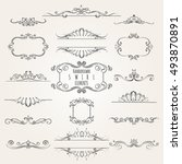 vintage decorative swirl... | Shutterstock . vector #493870891