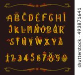 fairy alphabet. | Shutterstock .eps vector #493871641