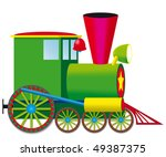 steam locomotive | Shutterstock .eps vector #49387375