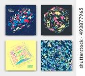 abstract modern cover set... | Shutterstock .eps vector #493877965