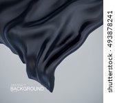 black silk fabric. vector... | Shutterstock .eps vector #493878241