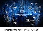 data management platform  dmp ...   Shutterstock . vector #493879855
