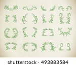 abstract floral green... | Shutterstock .eps vector #493883584