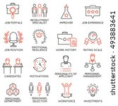 vector set of 16 icons related... | Shutterstock .eps vector #493883641