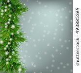 christmas grey background with...   Shutterstock . vector #493885369