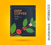 packaging design for drip... | Shutterstock .eps vector #493886215