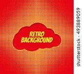 comics pop art style blank... | Shutterstock .eps vector #493889059