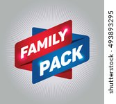 family pack arrow tag sign. | Shutterstock .eps vector #493893295