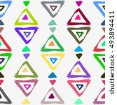 seamless pattern with brush... | Shutterstock .eps vector #493894411