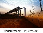 oil pipeline  the oil industry... | Shutterstock . vector #493896001