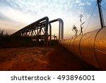 oil pipeline  the oil industry...   Shutterstock . vector #493896001