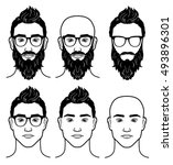 vector template for barbershop | Shutterstock .eps vector #493896301