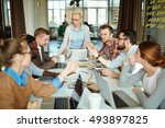 education of managers | Shutterstock . vector #493897825
