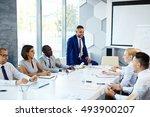business conversation | Shutterstock . vector #493900207