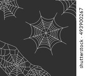 grey background with spider web | Shutterstock .eps vector #493900267