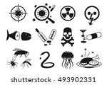 vector icon set of different... | Shutterstock .eps vector #493902331