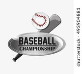 baseball related icons image | Shutterstock .eps vector #493904881