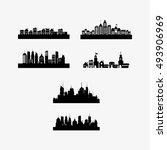 city skyline image  | Shutterstock .eps vector #493906969