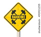 Small photo of Hardcore sign. For bodybuilders and people adept physical and heavy training exercise.