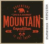 vintage vector of wilderness... | Shutterstock .eps vector #493921504
