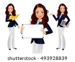 elegant people businesswoman   Shutterstock .eps vector #493928839