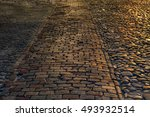 Texture Of Cobblestone Street...