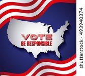 us presidential voting concept...   Shutterstock .eps vector #493940374