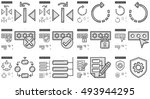 content edition vector line... | Shutterstock .eps vector #493944295