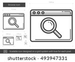 browse vector line icon... | Shutterstock .eps vector #493947331