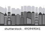 buildings cityscape skyline... | Shutterstock .eps vector #493949041