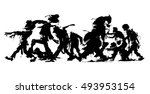vector silhouette of a big... | Shutterstock .eps vector #493953154