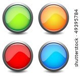 colored button | Shutterstock .eps vector #49395784