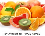 ripe fruit for a healthy diet | Shutterstock . vector #493973989