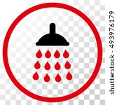 shower vector icon. image style ... | Shutterstock .eps vector #493976179