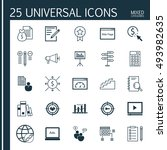 set of 25 universal icons on... | Shutterstock .eps vector #493982635