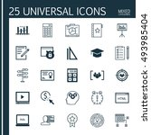 set of 25 universal icons on... | Shutterstock .eps vector #493985404