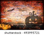 halloween concept shadow blur... | Shutterstock . vector #493995721