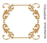 gold vintage baroque element... | Shutterstock .eps vector #493997011