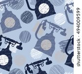 seamless pattern with vintage... | Shutterstock .eps vector #494009599