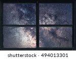 Starry Night Sky Window View....