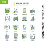 color flat line icons set of... | Shutterstock .eps vector #494015221