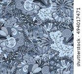 tracery seamless calming... | Shutterstock .eps vector #494017471