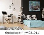 modern style black and white... | Shutterstock . vector #494021011