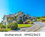 big custom made luxury house... | Shutterstock . vector #494023621