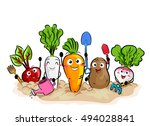 colorful illustration featuring ... | Shutterstock .eps vector #494028841