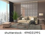 interior with sofa. 3d... | Shutterstock . vector #494031991